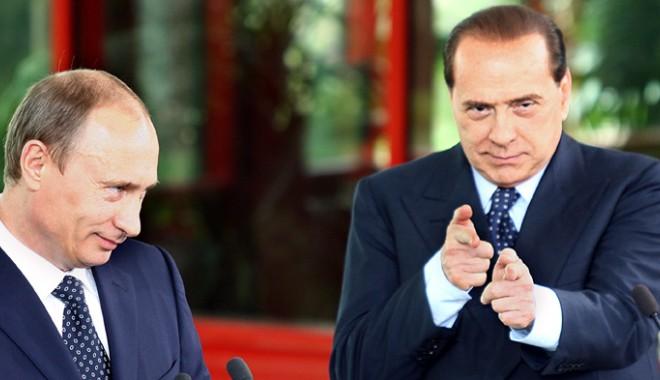 Foto: Berlusconi se declară un prieten foarte bun al lui Putin