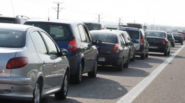 Foto: Blocaj în trafic pe Bulevardul Mamaia