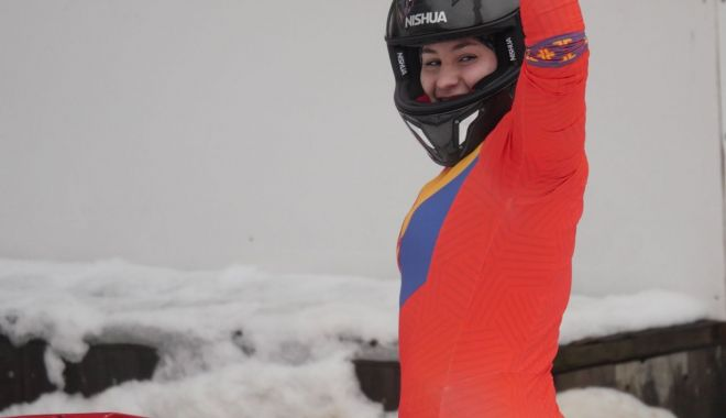 Foto: Teodora Vlad, pe locul 3 la concursul de monobob din Franța