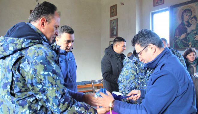 Foto: Slujba de Bobotează, oficiată în unitatea militară de la Capu Midia