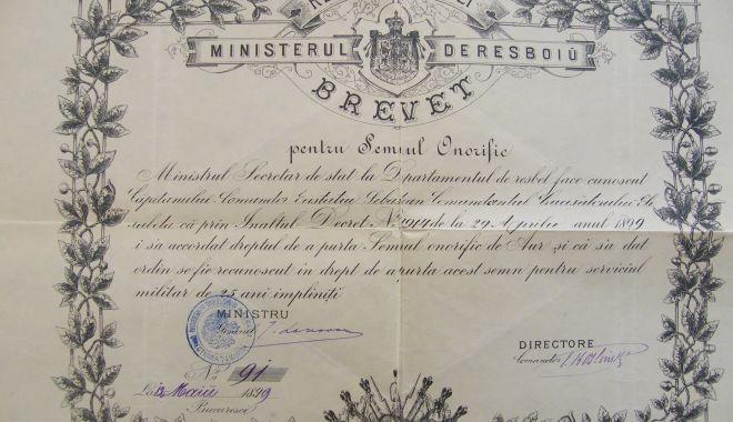 Foto: Brevet original, în patrimoniul Muzeului Național al Marinei Române