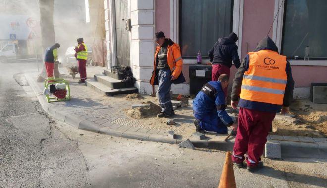 Foto: Lucrări de reabilitare pe bulevardul Mamaia