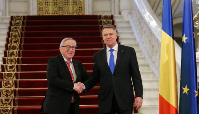 Foto: Junker și comisarii europeni, la Cotroceni