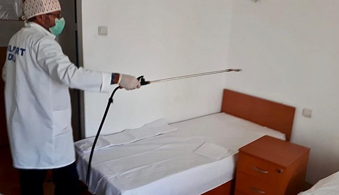 Foto: Primăria Constanța, acțiune de dezinfectare la Căminul pentru Persoane Vârstnice