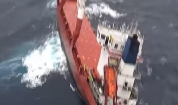 Operațiune DRAMATICĂ de salvare. Cargou rămas fără control, în Marea Egee. Ce s-a întâmplat cu navigatorii. FOTO / VIDEO - cargou1-1575638186.jpg