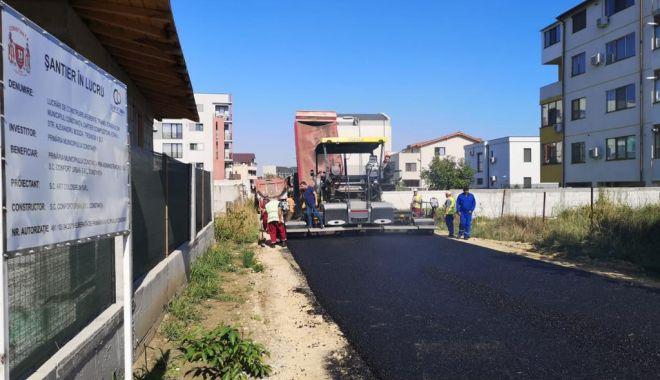 Foto: Cartierul Compozitorilor, în plin proces de asfaltare
