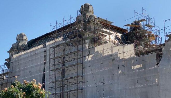 Foto: Avansează lucrările de restaurare la Cazinoul din Constanța