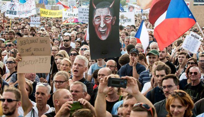 Foto: Cele mai mari proteste antiguvernamentale din ultimii 30 de ani, în Cehia