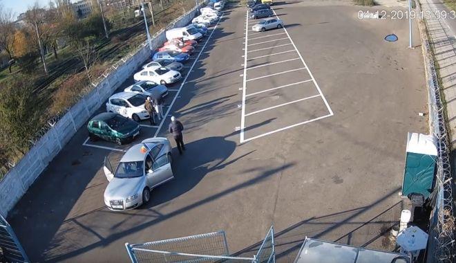 Foto: Circ făcut de un constănțean beat, la parcul auto, pentru o mașină ridicată de Poliția Locală!