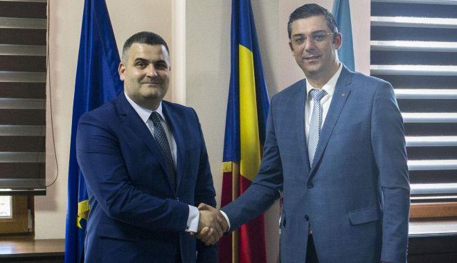 Șeful CJC, Horia Țuțuianu, întâlnire cu ministrul Apărării, Gabriel Leș - cjcintalnireministrules-1555431823.jpg