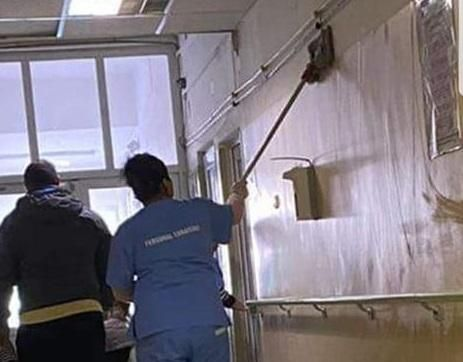Foto: IGIENĂ PRECARĂ în spital! Un deputat are dovada!
