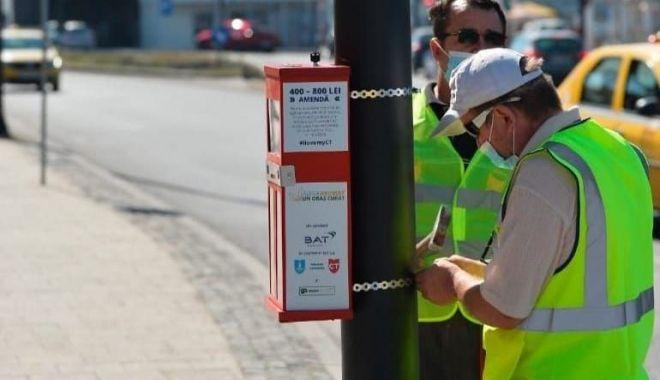 Colectare selectivă a mucurilor de ţigară, la Constanţa. 200 de scrumiere speciale, în staţiile de autobuz - colectareselectiva2-1600697820.jpg