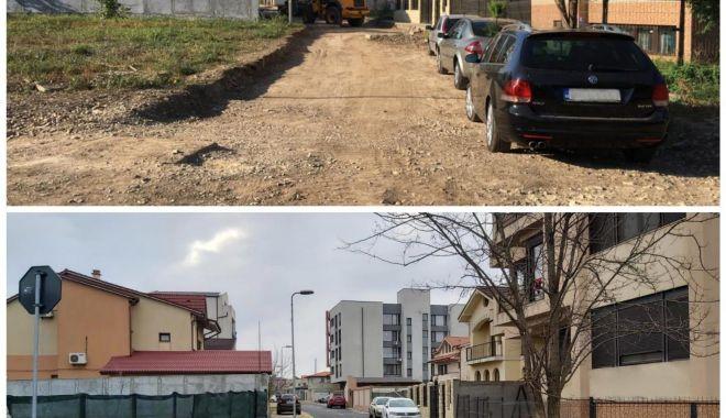 Foto: Condiții de circulație îmbunătățite pe strada Alexandru Bogza