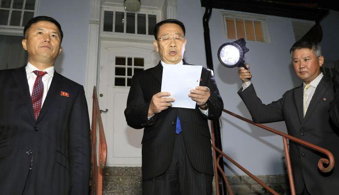 Foto: Consultările dintre SUA și Coreea de Nord, de la Stockholm, au eșuat