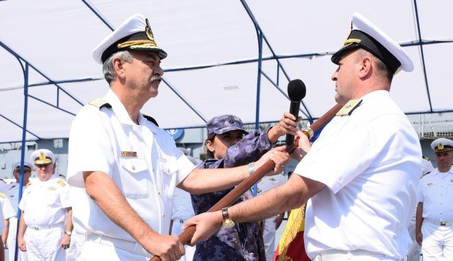 Foto: Contraamiralul de flotilă Mihai Panait, noul comandant al Flotei Române