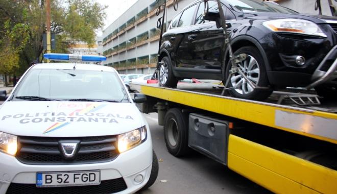 Foto: Atenție, constănțeni! Încă puțin și începe ridicarea mașinilor staționate neregulamentar