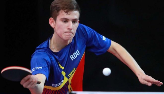 Foto: Cristian Pletea luptă la Openul Suediei la tenis de masă