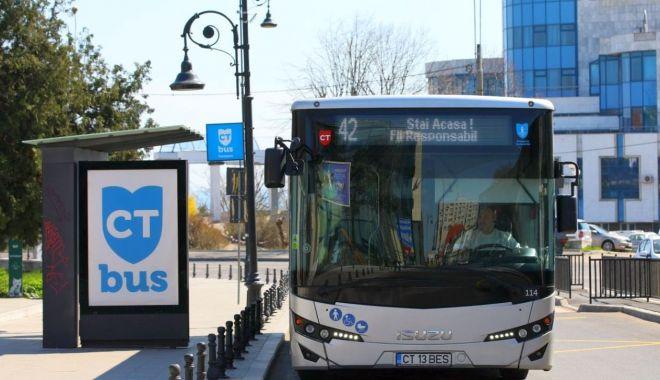 Autobuzele CT Bus, suspendate pe șase trasee.