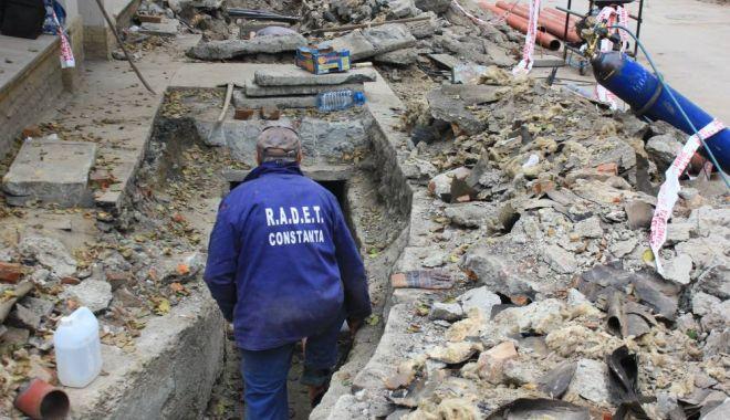 Foto: Avarie la infrastructura RADET. Vezi unde nu se asigură apa caldă și căldura!