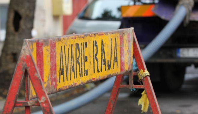 Foto: AVARIE RAJA. O parte din localitatea Mihail Kogălniceanu a rămas fără apă rece