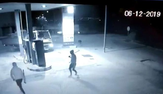 Foto: Tâlhari români sperie Spania: au furat un bancomat!