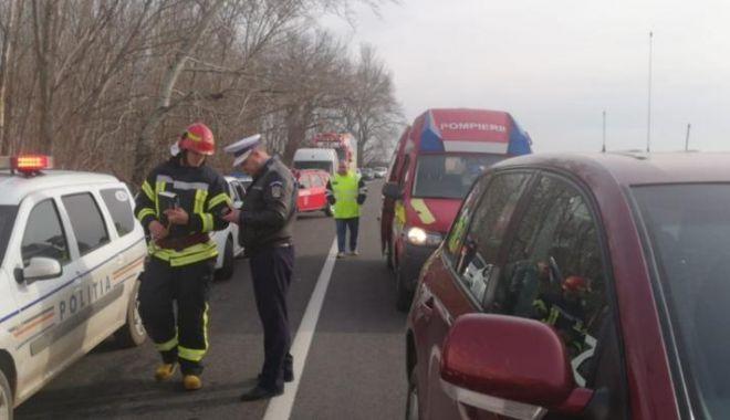 Foto: Accident grav lângă frontieră! A fost activat Planul roșu de intervenție