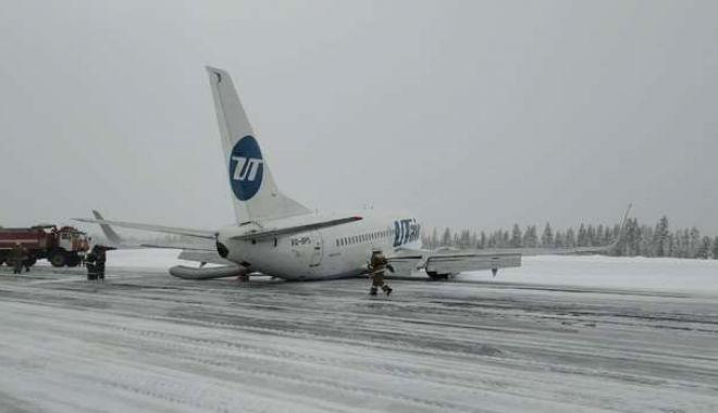 Foto: Aterizare cu peripeții în Rusia! Pasagerii au fost evacuați pe tobogane