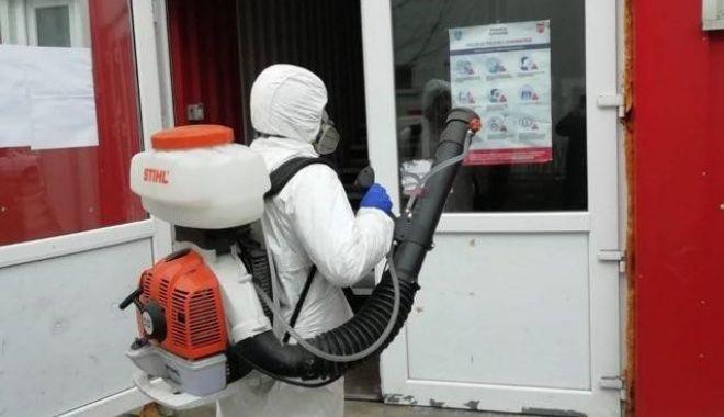 """Foto: RAEDPP dezinfectează în Campusul Social """"Henri Coandă"""""""