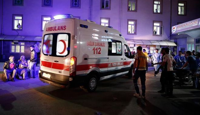 Foto: Diplomat din Belarus, rănit de gloanțe la Ankara
