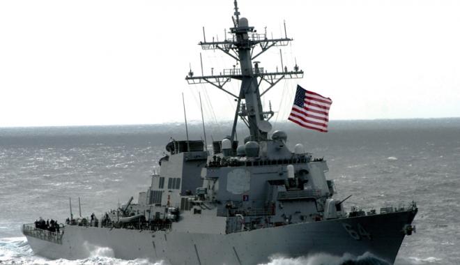 Foto: Navă americană de război, în Portul Constanța. Rușii, cu ochii ca pe butelie!