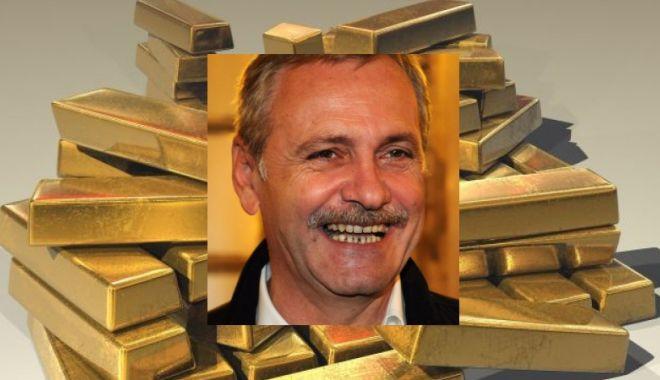 Foto: Dragnea, dacă tot vrei mult aur, de ce nu aduci tezaurul României de la Moscova?
