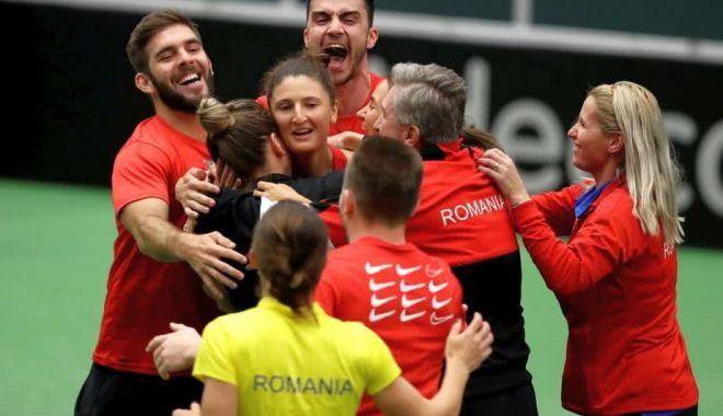 Echipa de Fed Cup a României pentru duelul cu Franța.