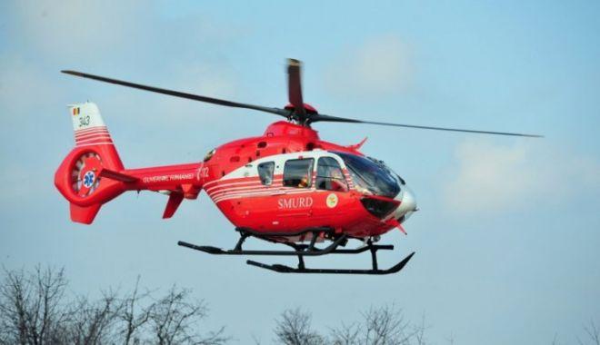 Foto: ACCIDENT RUTIER LA CONSTANȚA! Patru victime. Intervine elicopterul SMURD