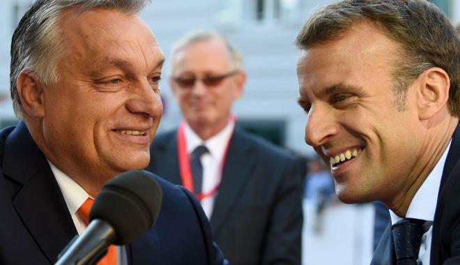 Foto: Emmanuel Macron, discuții cu Viktor Orban despre viitorul Europei