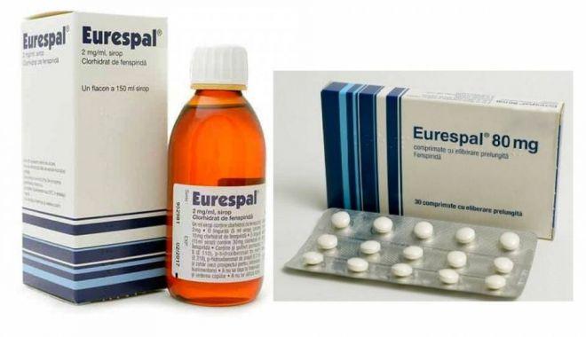 Foto: Medicamentul antitusiv EURESPAL, retras de pe piață. Poate provoca aritmii cardiace!