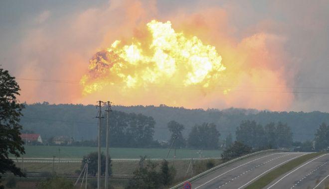 Foto: Noi informații în cazul exploziei de la un depozit de muniție  din Ucraina