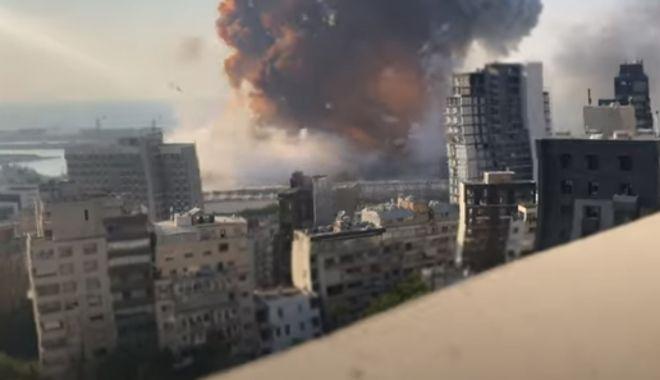 VIDEO / Imagini noi în slow-motion din momentul exploziei devastatoare din Beirut - explozie-1597214253.jpg