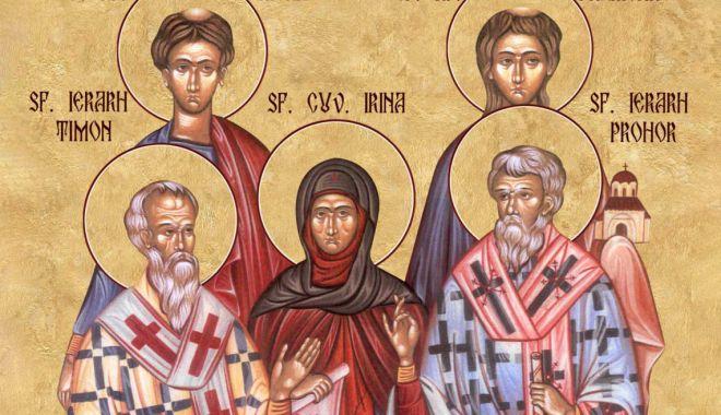 Biserica Ortodoxă îi cinsteşte pe Sfinţii Apostoli şi Diaconi Prohor, Nicanor, Timon şi Parmena - ffffff-1627448415.jpg