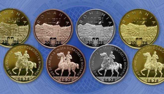 Foto: BNR lansează trei monede dedicate împlinirii a 140 de ani  de la unirea Dobrogei cu România