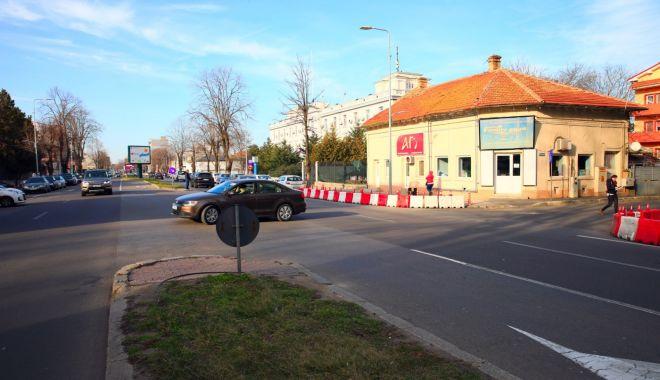 Foto: De ce a apărut un sens giratoriu în apropierea Poliției Constanța!