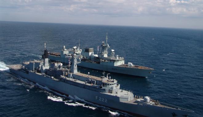 Foto: Forțele Navale Române, exerciții în colaborare cu militarii turci