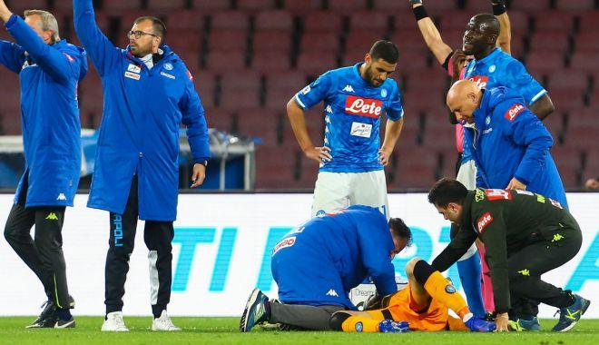 Foto: Accidentare gravă pentru portarul celor de la Napoli