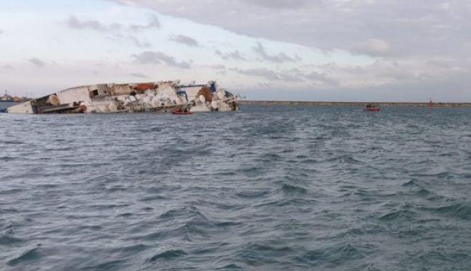 """Foto: Catastrofa navală de la Midia, sub lupă! """"Nava era puțin înclinată când a plecat de la cheu"""""""
