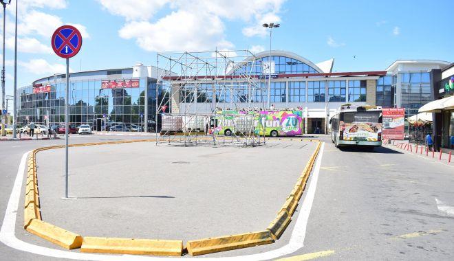 Sens giratoriu pe bd. 1 Decembrie, zonă pietonală și parcare uriașă, în zona Gării Constanța - fotofondsensgiratoriugara1-1582233403.jpg
