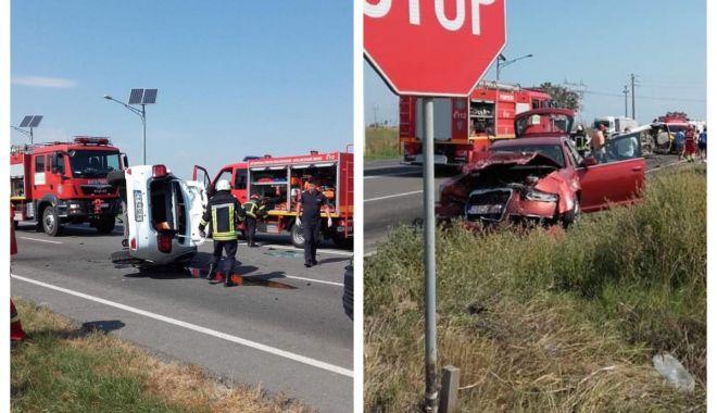 GALERIE FOTO-VIDEO / Primele imagini de la accidentul teribil din Ovidiu