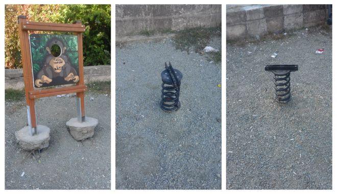 Foto: SITUAȚIE REVOLTĂTOARE! Locuri de joacă vandalizate, la Constanța
