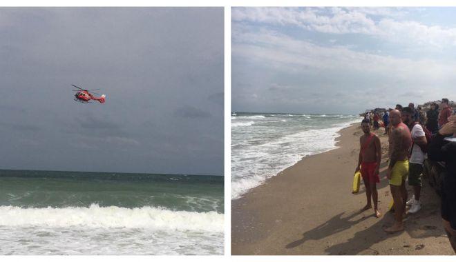 Foto: UPDATE. TÂNĂR ÎNGHIȚIT DE APE! Mobilizare de forțe îngreunată de valuri, pe plaja din Vama Veche!