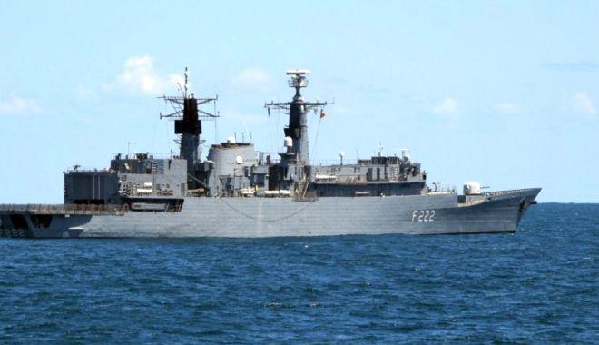 """Foto: Fregata """"Regina Maria"""", exerciții de luptă în toate mediile de acțiune"""