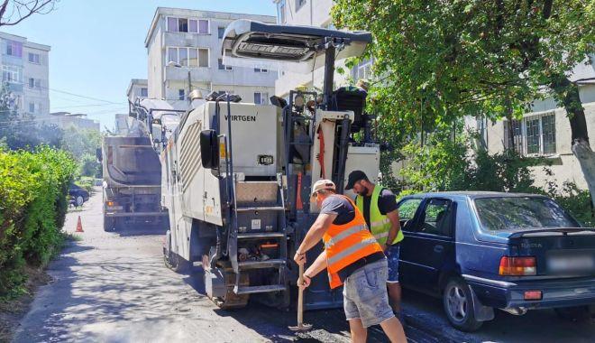 Foto: GALERIE FOTO / Lucrările de reabilitare a carosabilului se extind în zona Dacia