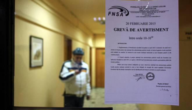 Foto: Funcționarii publici cer salarizare corectă a tuturor bugetarilor